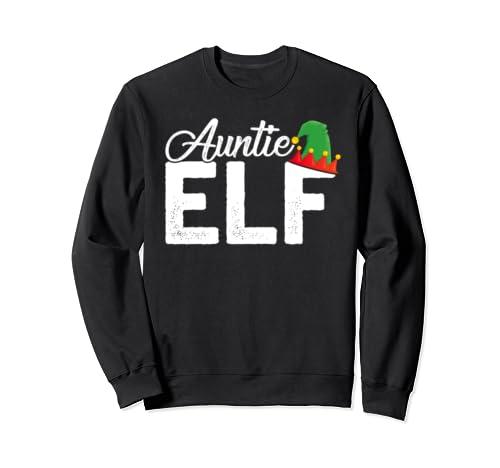 Christmas Elf Auntie Crewneck Sweatshirt Christmas Family