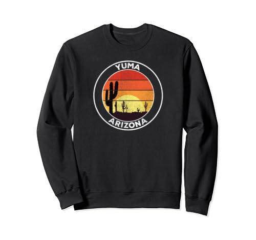Vintage Yuma Az Gift Desert Sunset Cactus Sweatshirt