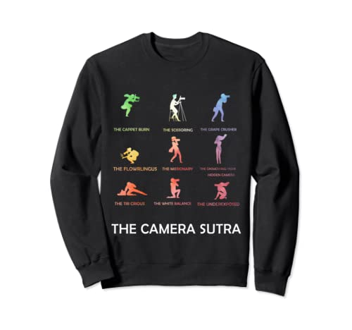 Vintage Retro The Camera Sutra Funny Photographer Camera Sweatshirt