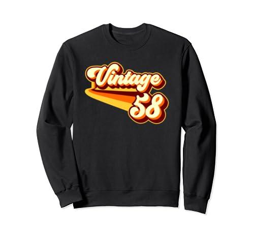 61st Birthday Men Women   Vintage 1958 Sweatshirt