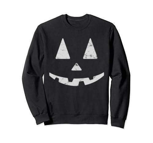 Smiling Halloween Pumpkin Face Light Jack O Lantern Sweatshirt