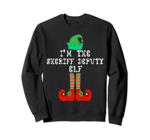 Matching Family Group Christmas I'm The Sheriff Deputy Elf Sweatshirt