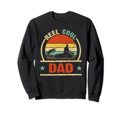 Reel Cool Dad Vintage Sunset Father's Day Gift Sweatshirt