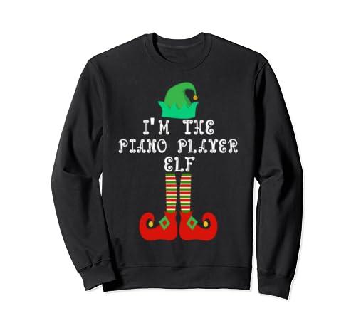 Matching Family Group Christmas I'm The Piano Player Elf Sweatshirt