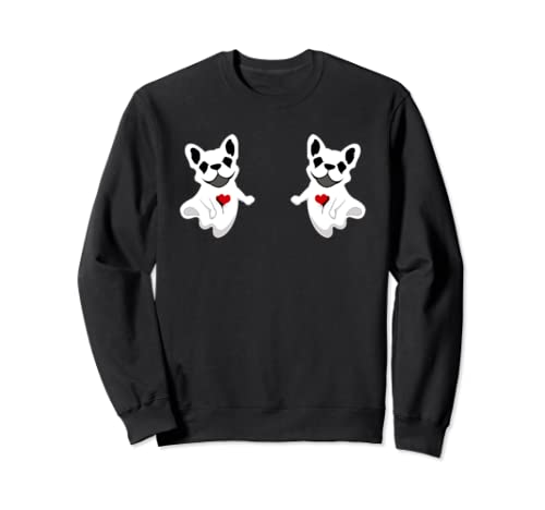 Halloween Gift For Boobs Couple Frenchie Boo Funny Sweatshirt