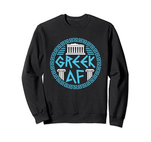Greek Pride Heritage   Greek Af Sweatshirt