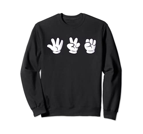420 Cartoon Hands Sweatshirt Pullover Subtle Stoner Apparel
