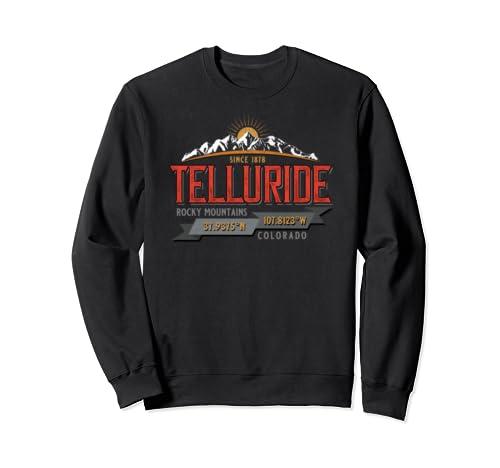 Vintage Retro Telluride Colorado Souvenir Novelty Keepsake Sweatshirt