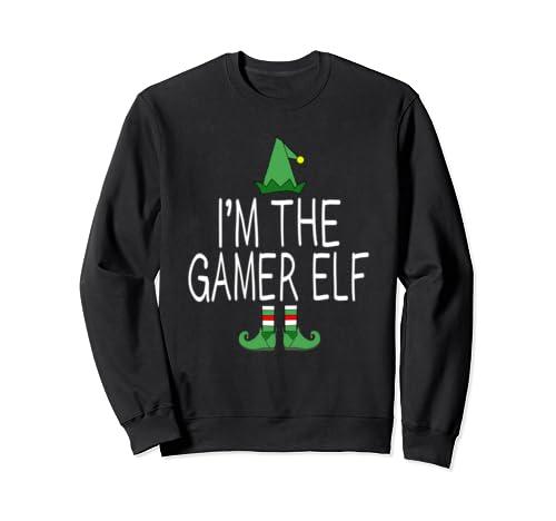Matching Family Christmas Funny I'm The Gamer Elf Gift Idea Sweatshirt