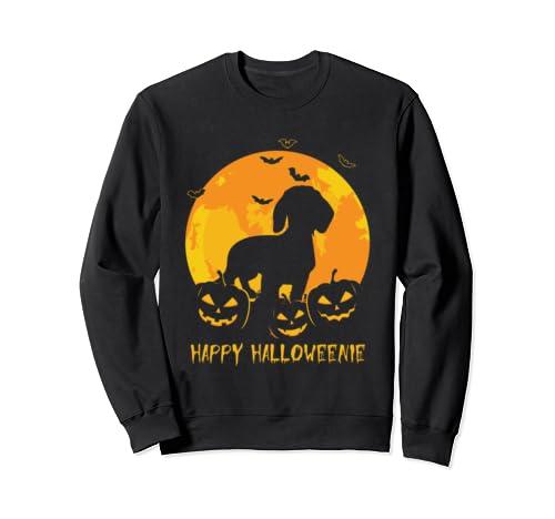 Halloween Dachshund Happy Halloweenie Pumpkin Gifts Sweatshirt