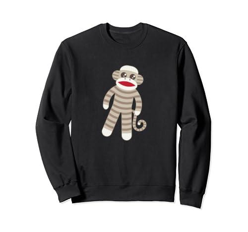 Cute Classic Striped Sock Monkey Sweatshirt