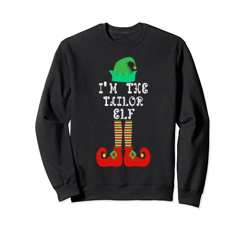 Matching Family Group Christmas I'm The Tailor Elf Sweatshirt