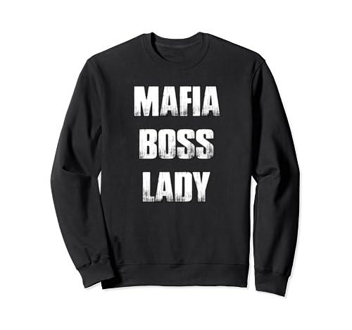 Mafia Boss Lady Gangster Costume Shirt For Halloween Sweatshirt