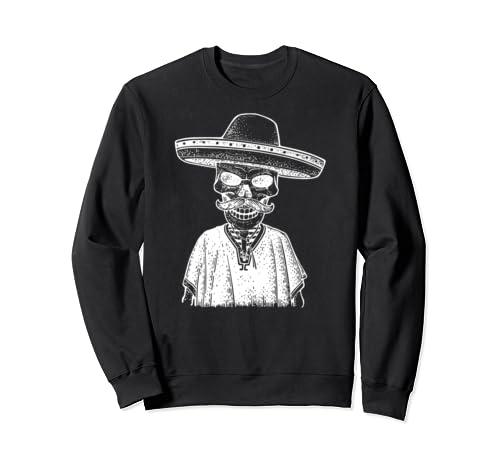 Dia De Muertos Skeleton Poncho & Hat I Day Of The Dead Sweatshirt