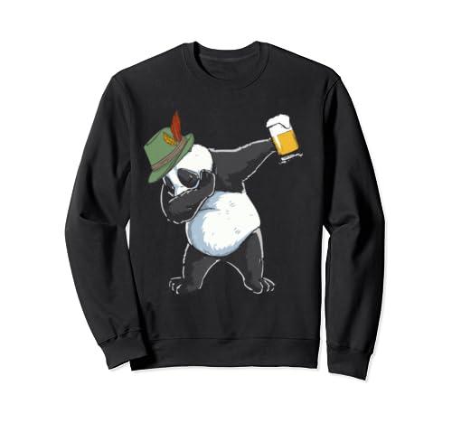 Dabbing Panda Lederhosen Oktoberfest T Shirt Men Prost Beer Sweatshirt