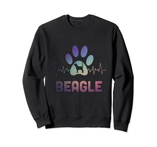 Beagle Lovers Heart Beat Tee Funny Beagle Lovers Gift Sweatshirt