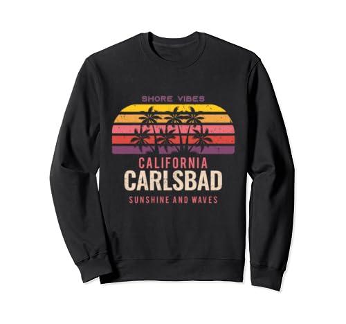 Retro Carlsbad California Vacation Group Trip Holiday Gift  Sweatshirt