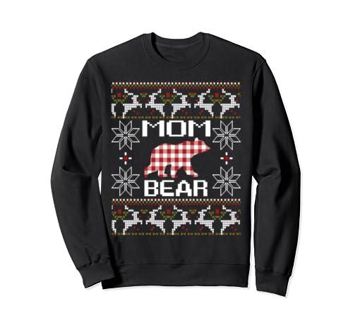 Mom Bear Ugly Christmas Gift Matching Family Season Sweatshirt
