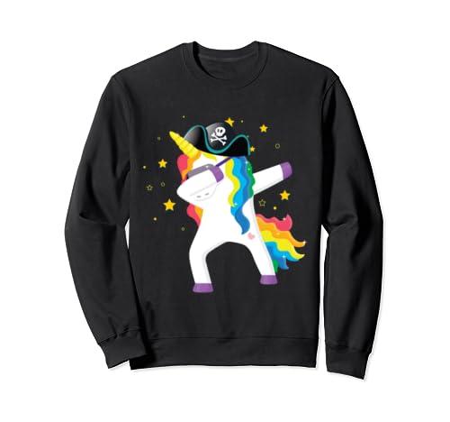 Funny Dabbing Unicorn Pirate Gift Halloween Costume T Shirt Sweatshirt