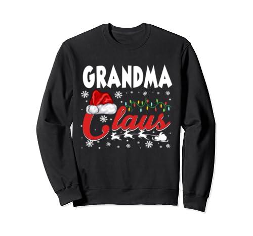 Grandma Claus Gift Christmas Matching Family Pajama Santa Sweatshirt