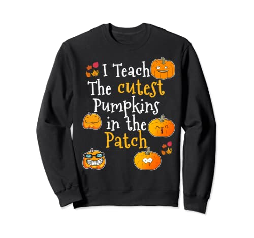 Teachers Halloween And Thanksgiving Pumpkin Patch Top Sweatshirt