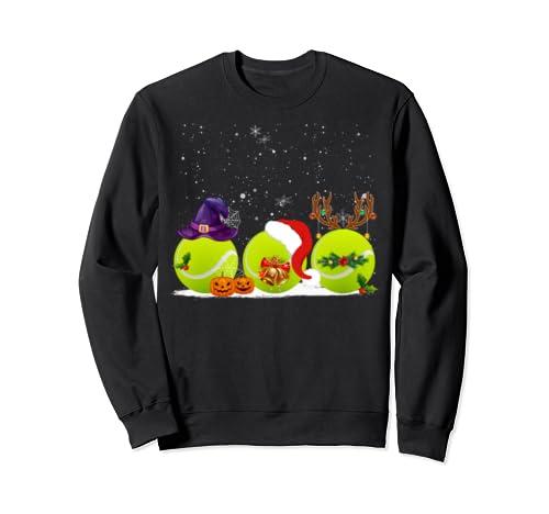 Funny Witch Santa Claus Reindeer Tennis Shirt Christmas Gift Sweatshirt