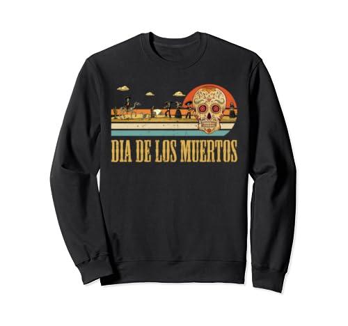 Dia De Los Muertos Funny Day Of The Dead Skull Vintage Sweatshirt