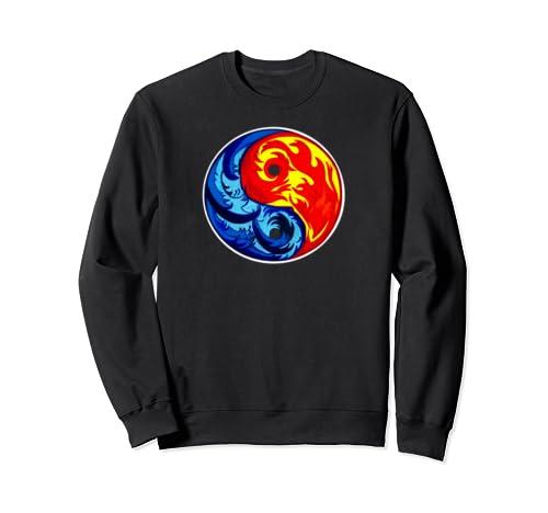 Fire And Ice Yin Yang Sweatshirt