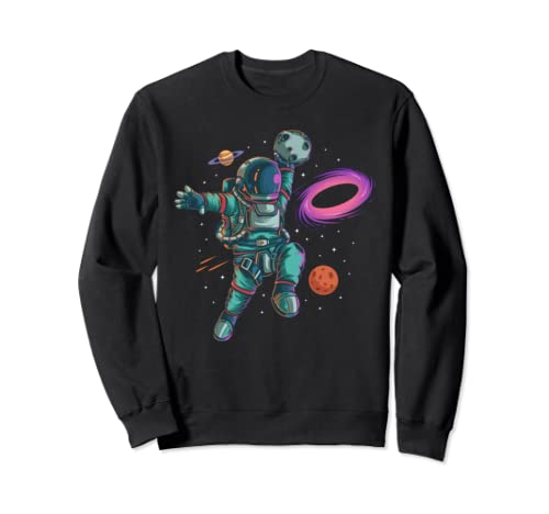 Astronaut Basketball Dunk Planet Blackhole Moon Landing Gift Sweatshirt
