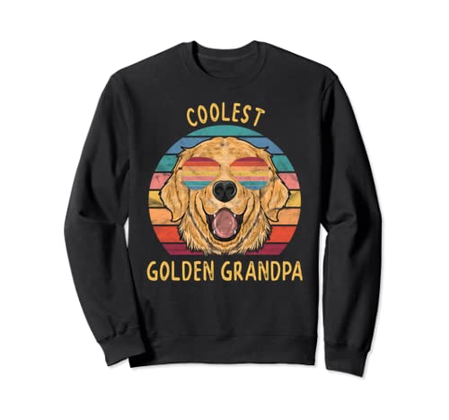 Golden Retriever Grandpa Gifts Coolest Golden Dog Grandpa  Sweatshirt