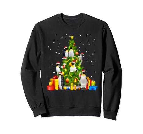 Funny Penguin Lover Christmas Tree X Mas Tree Gift Sweatshirt