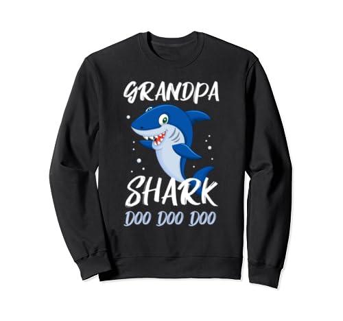 Grandpa Shark Doo Doo Doo Funny Gifts Family  Sweatshirt