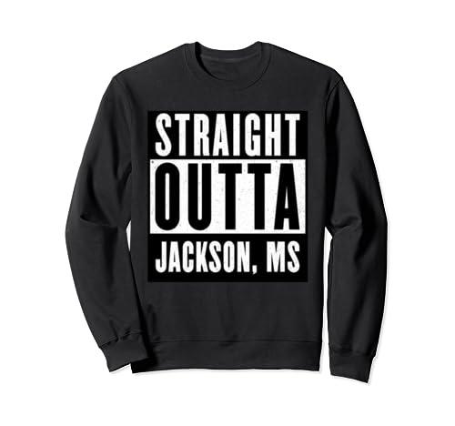 Straight Outta Mississippi Tshirt Jackson Home Tee V Neck  Sweatshirt