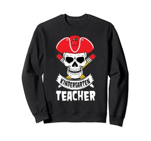 Pirate Kindergarten Teacher Matching Halloween Pencils Sweatshirt