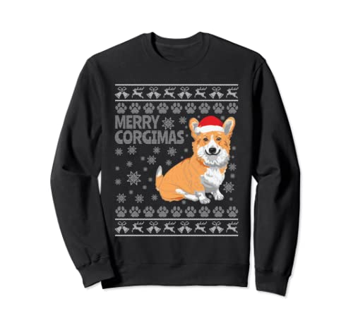 Merry Corgimas - Ugly Christmas Corgi Sweatshirt