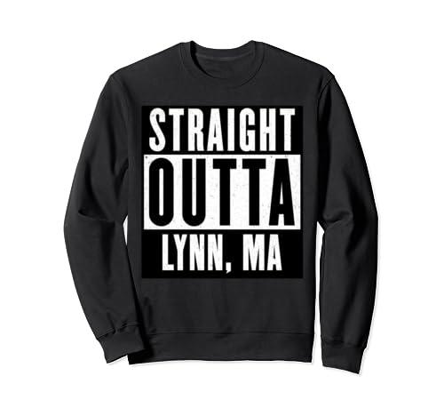Straight Outta Massachusetts Tshirt Lynn Home Tee V Neck  Sweatshirt
