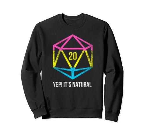Natural 20 Pansexual Flag Pride Lgbt Rights Saying Design Sweatshirt