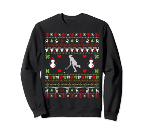 Womens Hockey Christmas Gifts Hockey Ugly Christmas Sweatshirt