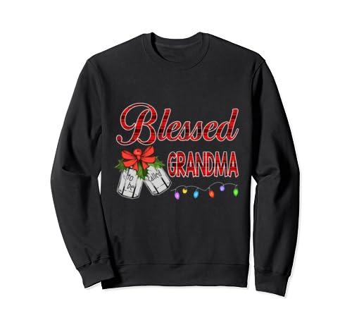 Christmas Blessed To Be Called Grandma Funny Grandma Gift Sweatshirt