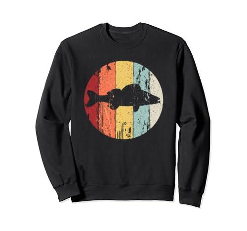 Walleye Fishing Retro Vintage Grunge Style Design  Sweatshirt