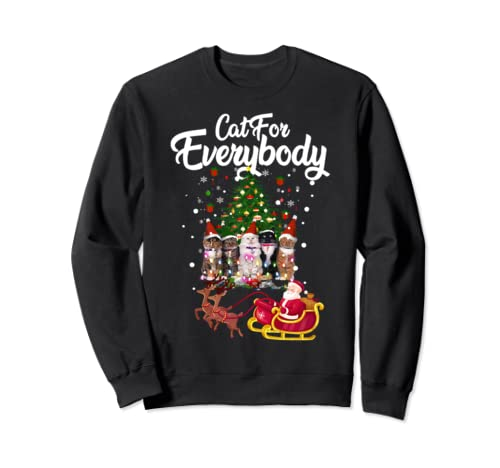 Cats For Everybody Christmas Cute Cat Lover   Sweatshirt