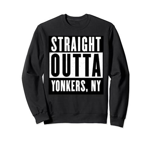 Straight Outta Yonkers Tshirt New York Home Tee V Neck  Sweatshirt