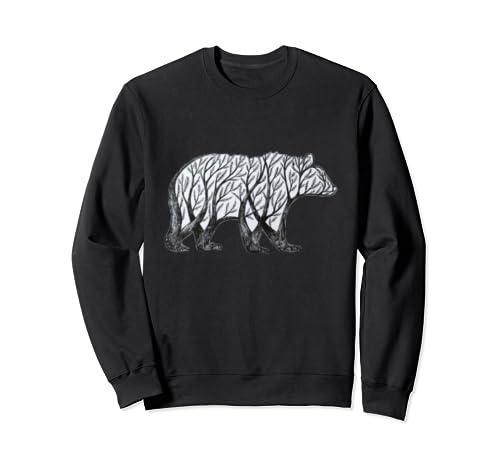 Bear Double Exposure Surreal Wildlife Animal Sweatshirt