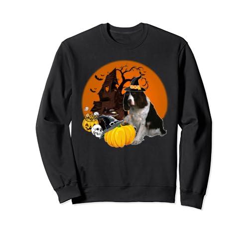 Happy Halloween Springer Spaniel Dogs Halloween Gift Sweatshirt