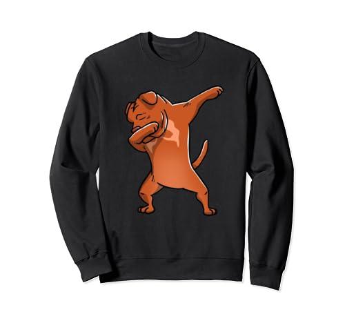 Funny Dabbing Dogue De Bordeaux Dog Birthday Party Gift Sweatshirt