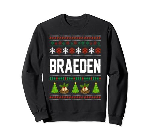 Braeden Christmas Family Ugly Christmas Sweater Shirt Sweatshirt