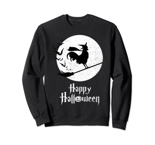 Witch Funny Halloween Costume Rooster Lovers Sweatshirt