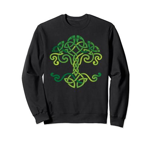 Celtic Knot Tree, St Patrick's Day, Irish Traditional Symbol Sweatshirt