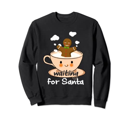 Funny Waiting For Santa Gingerbread Lovers Sweatshirt
