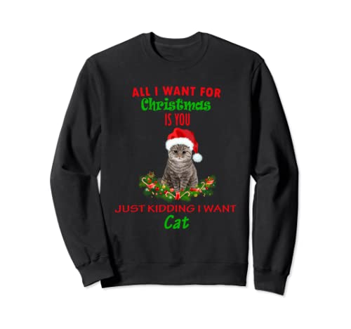 Funny All Things I Want My Cat For Christmas Apparel Not You Sweatshirt